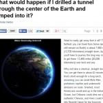地球を貫通するトンネルを掘るとどうなる?→凄い旅行が出来る