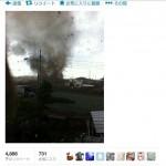 『まるで戦場』埼玉・千葉の竜巻写真ツイッターに続々アップされる