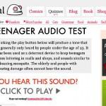 若い人にしか聞こえない不思議な音『モスキート』を体験できるサイト