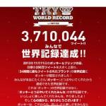 【祝】ポッキーヤバい!ギネス記録達成の3,710,044ツイート!もはや化け物!