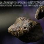 11月24日に小惑星『2011WP4』が地球に接近衝突の確立は「わからない…」オイッ!