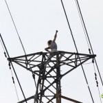 鉄塔の上で単独ライブを行っていた男無事保護される。