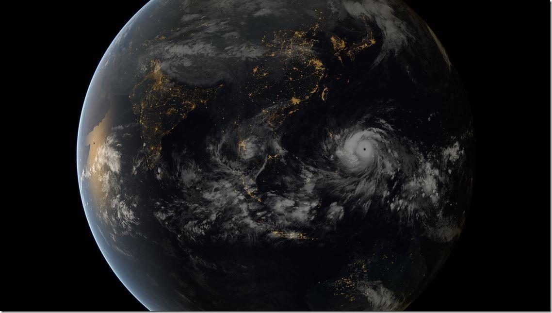 台風と夜景を合成させた衛星写真があまりにも「美しい」と絶賛 0073976b thumb
