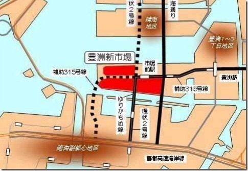 豊洲新市場の千客万来施設の場所(地図)はココ!オープン時期はいつ?2