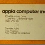 1979年頃のスティーブジョブズの名刺があまりに「衝撃的」過ぎると話題に