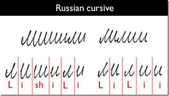 【恐ロシア】プーチンさんゴメンナサイ!なんとあの謎文字は難しい筆記体だった 711b1031 thumb
