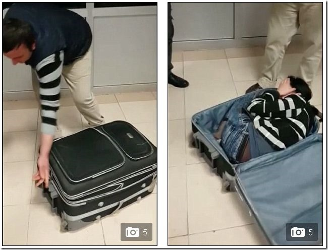 エスパー伊藤かよ!スーツケースに女を隠し密輸しようとした男が捕まる a4c1cfb8 thumb